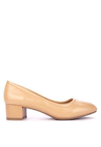 Shop Rock Rose Block Heel Pumps Online on ZALORA Philippines 3686d3e673