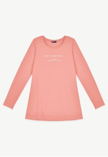 Cheetah pink Cheetah Ladies Long Sleeve Tee - CL-65342 20251AA1EB2986GS_1