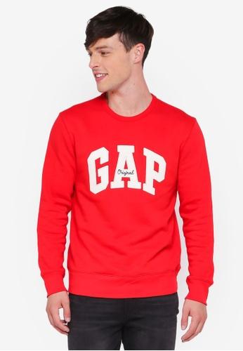 GAP red Gap Original Arch Crew Neck Sweater E6533AA24BE74DGS_1