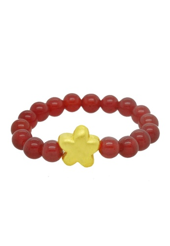 LITZ red and gold [SPECIAL] LITZ 999 (24K) Gold Little Star Charm with free Red Agate Ring 28AC7AC80F381CGS_1