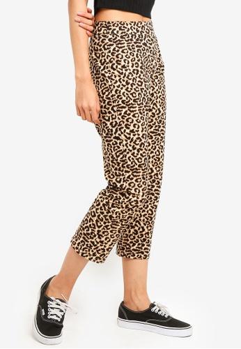 Cotton On brown and multi Gemma Capri Pants 0CED7AA3409B09GS_1