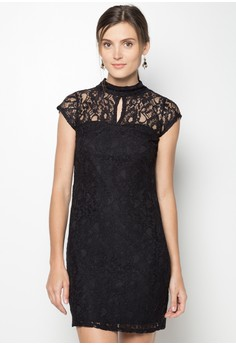 Short Sleeves Lace Dress