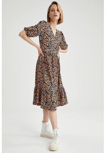 DeFacto black Woman Short Sleeve Knitted Dress 16371AA33D247FGS_1