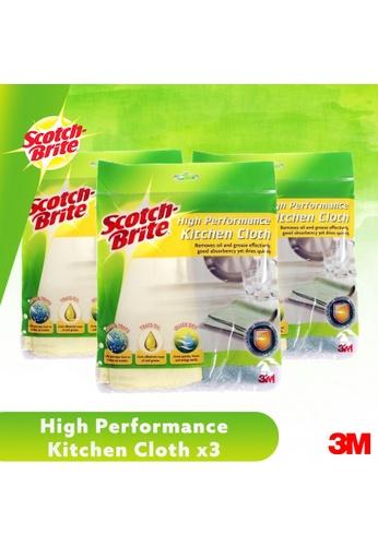 Scotch-Brite 3M Scotch Brite High Performance Kitchen Cleaning Cloth 2pc/Pack [T109C] [Bundle of 3] 56521ES0694A1EGS_1