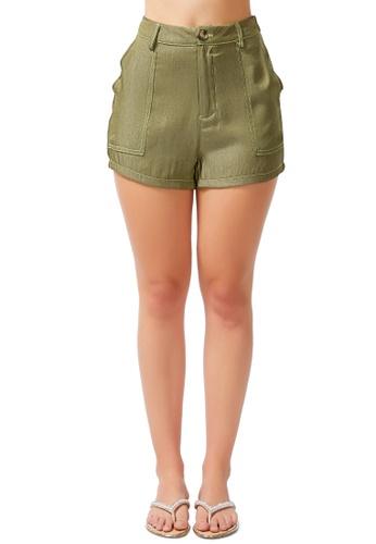 London Rag green Contrast Seam Everyday Shorts 3C2E4AA5F3BD96GS_1
