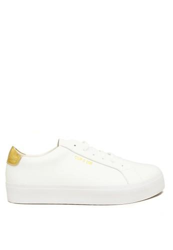 CDE white Ceremonial Sneaker Cowok - White/Gold 01D0CSHC75BFEEGS_1