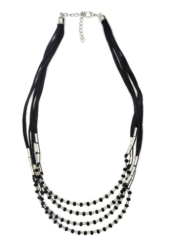 Istana Accessories Kalung Maudya 4 Layers Fashion Necklace - Silver