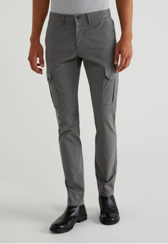 United Colors of Benetton grey Cargo Trousers A8884AA2F514EEGS_1
