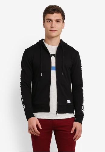 High Cultured 黑色 連帽 夾克 HI002AA0S1U5MY_1