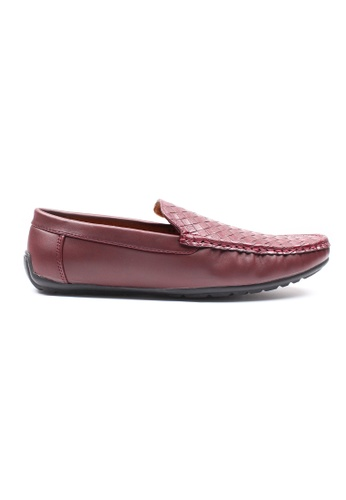 Moley red Weave Pattern Loafers 9572ESH151E833GS_1