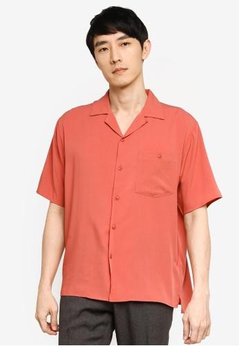 GLOBAL WORK red Resort Shirt 3A74DAA8F5AE72GS_1