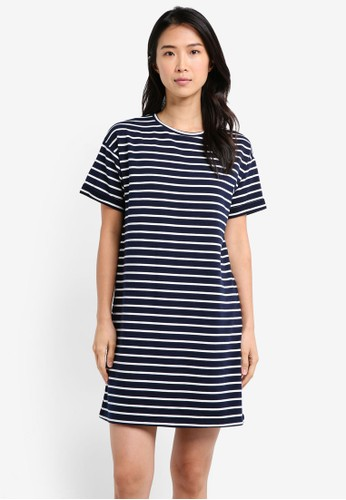 ZALORA BASICS multi and navy Essential T-Shirt Dress CD62BAA0DD9747GS_1