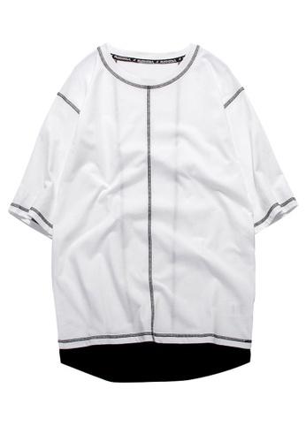 HAPPY FRIDAYS Oversize Casuel Half Sleeve T-shirt RS1180 4E127AA420BFE2GS_1