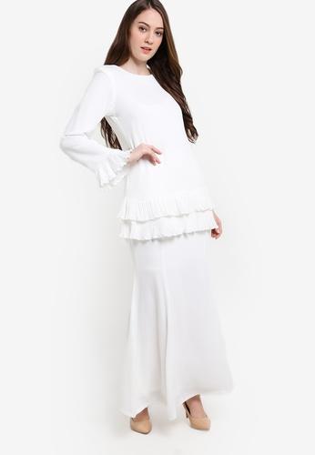 Butik Sireh Pinang white Baju Kurung Modern Karina BU003AA91SEQMY_1