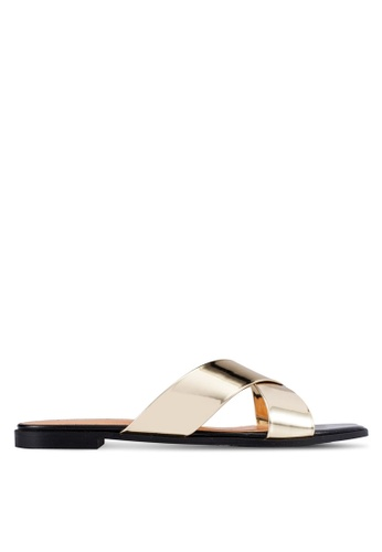 Christy Ng gold Athena Gold Sandals CH330SH0RXP9MY_1