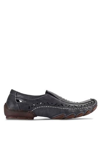 Bata black Bata Cut Out Loafers BA156SH04ADVMY_1