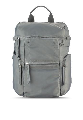 仿皮邊飾矩形尼龍後背包, 包, 後背esprit 工作包