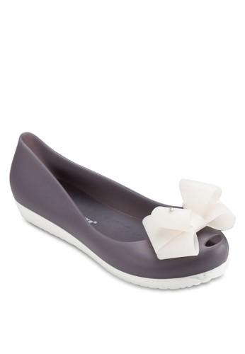 蝴蝶結露esprit outlet 高雄趾PVC 平底鞋, 女鞋, 鞋