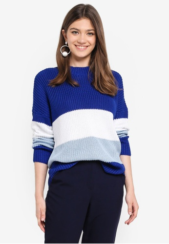 ONLY blue Addison L/S Pullover 67E1BAA83848D0GS_1