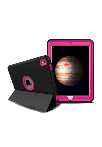 """MobileHub black and pink iPad Pro (9.7"""") Extreme Hybrid Shockproof Case 94D6FAC0FC3435GS_1"""