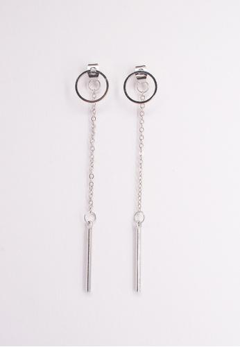 Leline Style silver Emily Circle Long Earrings FFEB5AC9939312GS_1