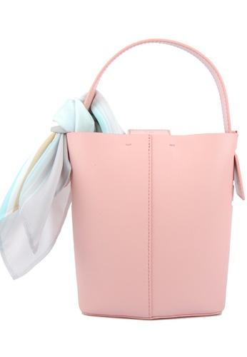 RO Bags pink RO Terranova Felucca Mini Top Handle Bucket Bag in Peach/Pink Sunset 33D5AACA930A42GS_1
