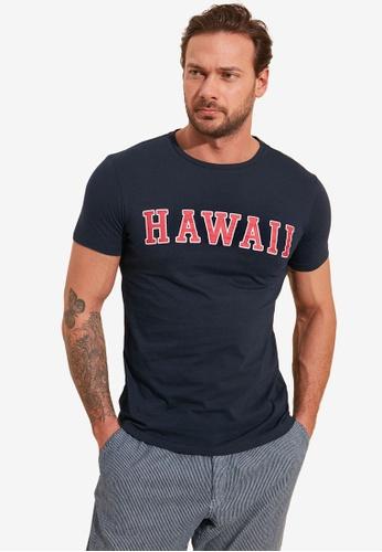 Trendyol navy Slim Printed T-Shirt F8B11AA8378A43GS_1