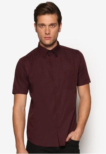 基本款esprit outlet 桃園短袖襯衫, 服飾, 素色襯衫