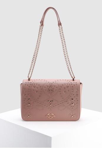 1d26d472b09b Love Moschino pink Shoulder Bag With Brogue Detail EF71FACF2A0E41GS 1