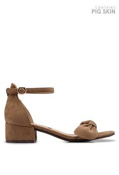 167c04e26db BETSY beige Hebe Ribbon Sandal Heels 4B729SHE484E70GS 1