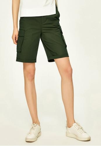 Hopeshow green Army Style Cargo Shorts HO442AA0FQSUSG_1