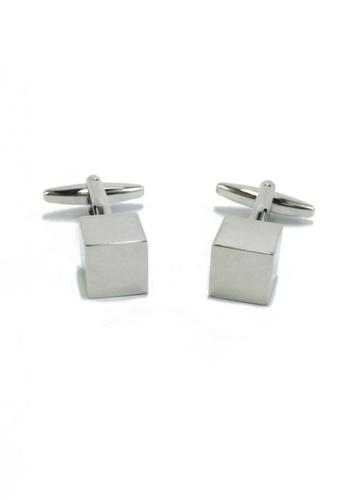 Splice Cufflinks silver Silver Cube Cufflinks SP744AC55EYQSG_1