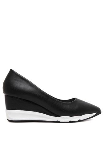 Twenty Eight Shoes black EVA Wedge Pumps VLA93653 TW446SH2UXEIHK_1