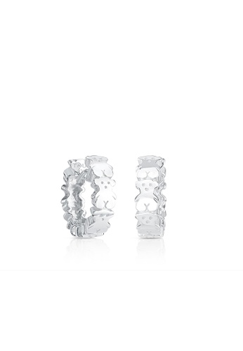 Tous silver TOUS Silver Puppies Earrings 07921AC9A93407GS_1