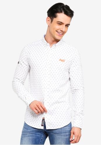 Superdry 白色 長袖印花鈕釦襯衫 DE5EAAAD825F22GS_1