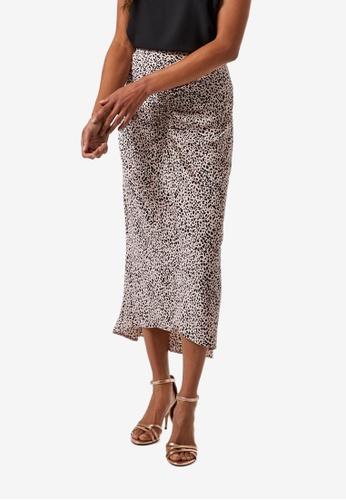 Dorothy Perkins multi Multi Colour Leopard Print Ruched Midi Skirt BDBF3AA5773984GS_1