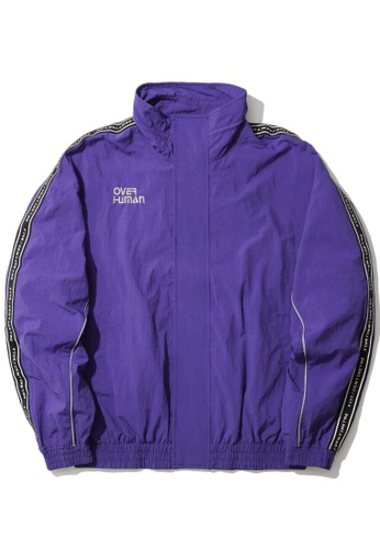 Fivecm purple Over Human taped jacket D0A1FAA747BA5EGS_1