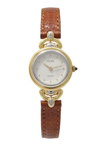 Alba brown ALBA Jam Tangan Wanita - Brown Silver Gold - Leather Strap - ARY38H  1E975AC576A14FGS_1