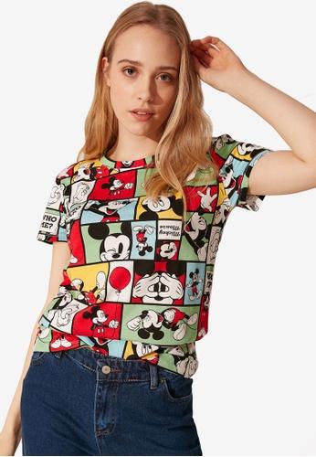 LC Waikiki multi Mickey Mouse Printed Cotton T-Shirt FC132AA969E279GS_1