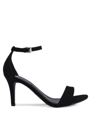 Dorothy Perkins 黑色 Wide Fit Black Microfibre 'Stella' Mid Heels D158ASHAF7C1E2GS_1