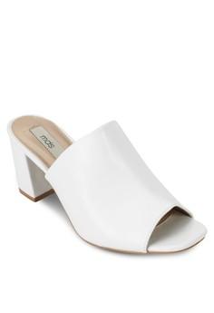 Trey Block Heels in White