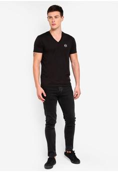 Armani Exchange Back Logo V-Neck T-Shirt S  100.00. Sizes XS S M L 3f9bac9f45b63