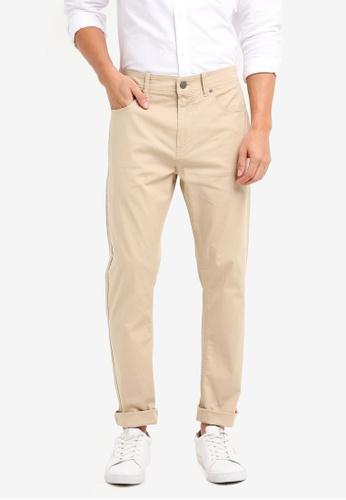Calvin Klein 綠色 Slub Twill 5 Pocket Pants - Calvin Klein Jeans ECFECAA457DA3FGS_1
