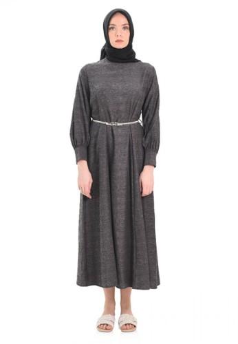 Elizabeth Clothing black Elizabeth Hanasta Long Dress-Black F2321AAEB483D6GS_1