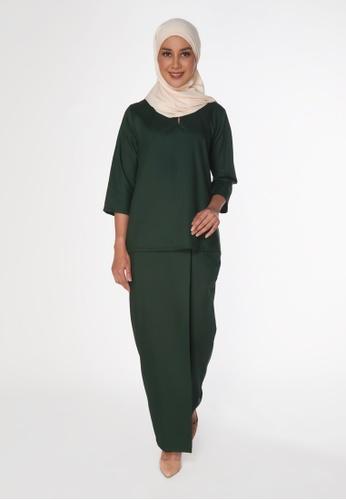 House Of Olsha green Signature Kamelia Kurung Kedah - Pohon 8D4DFAAE0562DCGS_1