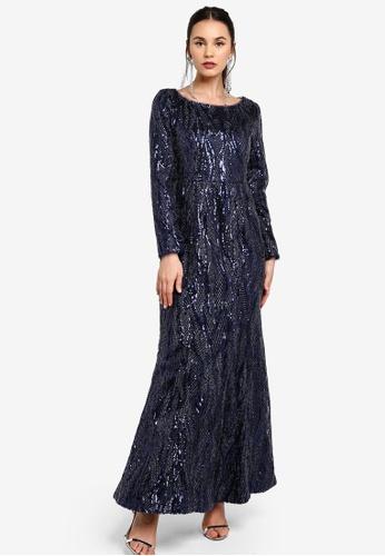 Zalia blue Sequin Mermaid Dress 3EE6DAAC30E63BGS_1