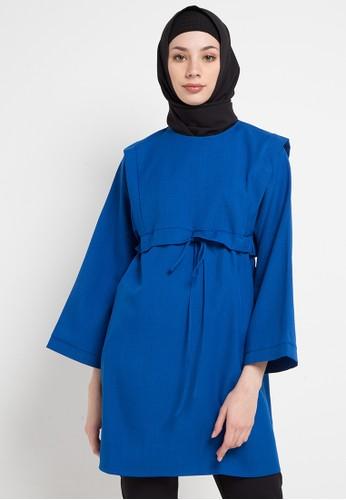 OMARA blue Salma Blouse 0B047AA9C3FF75GS_1