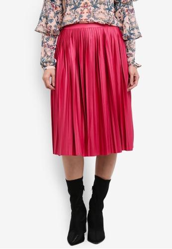 Esprit pink Knitted Midi Skirt ES374AA0S2QKMY_1