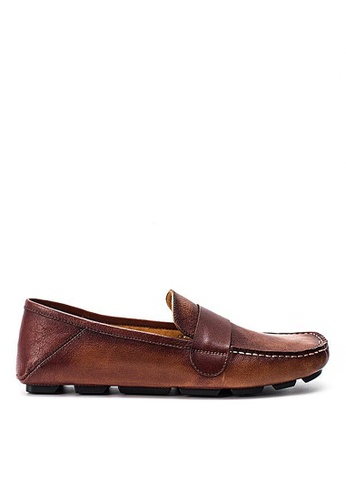 Twenty Eight Shoes Cristoforo Vintage Leather Loafers BL06 F1DF5SHB7CC3DDGS_1
