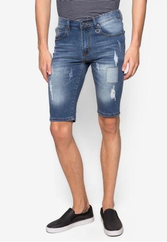 刷破丹寧短褲, zalora 評價服飾, 長褲